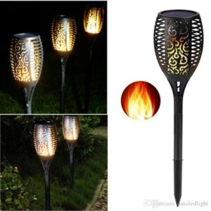 Lampe solaire flamme
